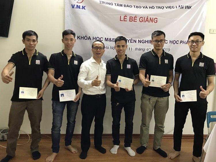 Lễ bế giảng khóa học M&E chuyên nghiệp các học phần lần thứ năm tại Hà Nội