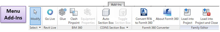Nơi chứa các lệnh của phần mềm phụ trợ cho Revit, được cài đặt thêm vào từ các ứng dụng có thể không phải của Autodesk