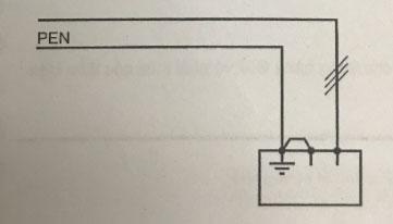 nối trực tiếp dây PEN với đầu nối đất của thiết bị