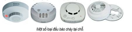 Một số thiết bị báo cháy sử dụng cho các hộ gia đình