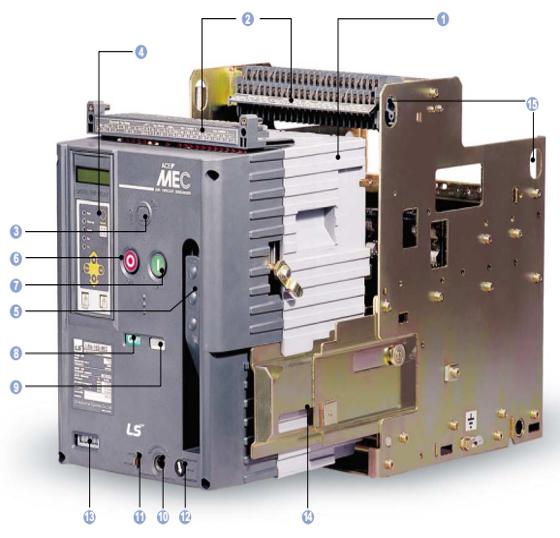 Cấu tạo nguyên lý hoạt động của máy cắt không khí ACB