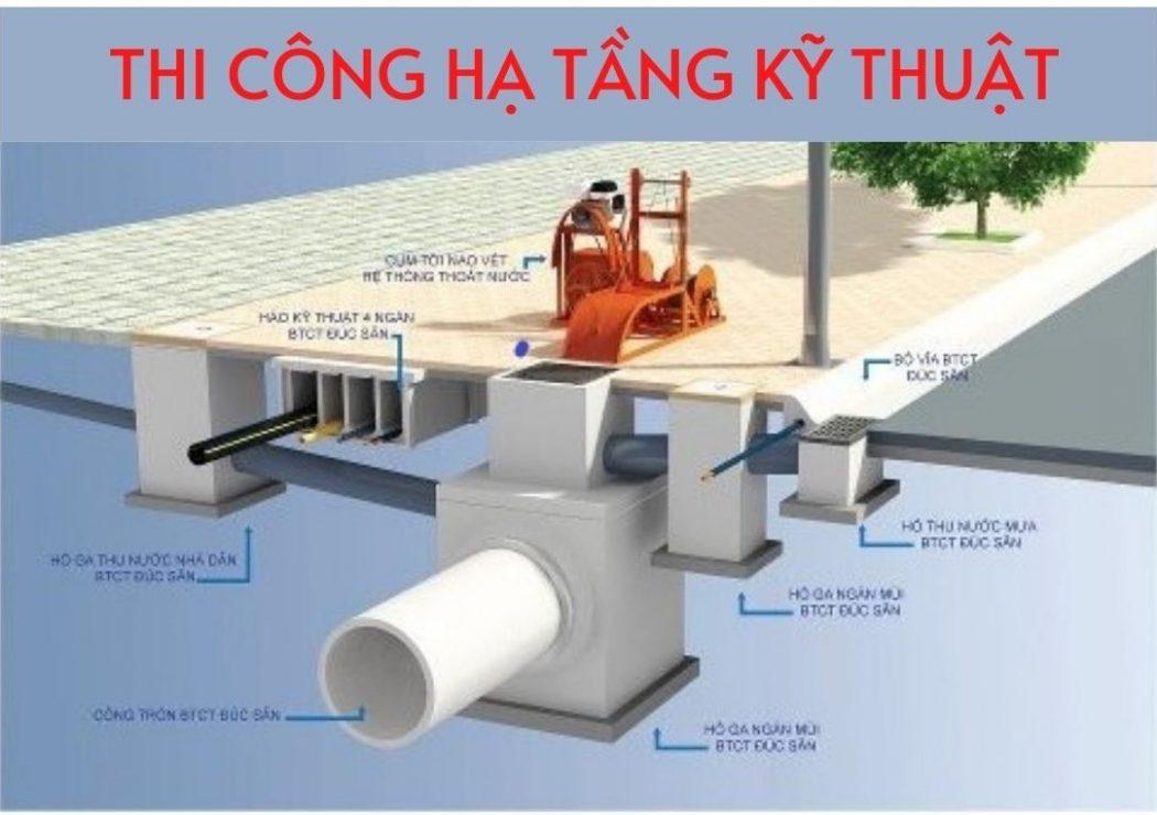 Thi công lắp đặt hệ thống Cấp thoát nước phần hạ tầng