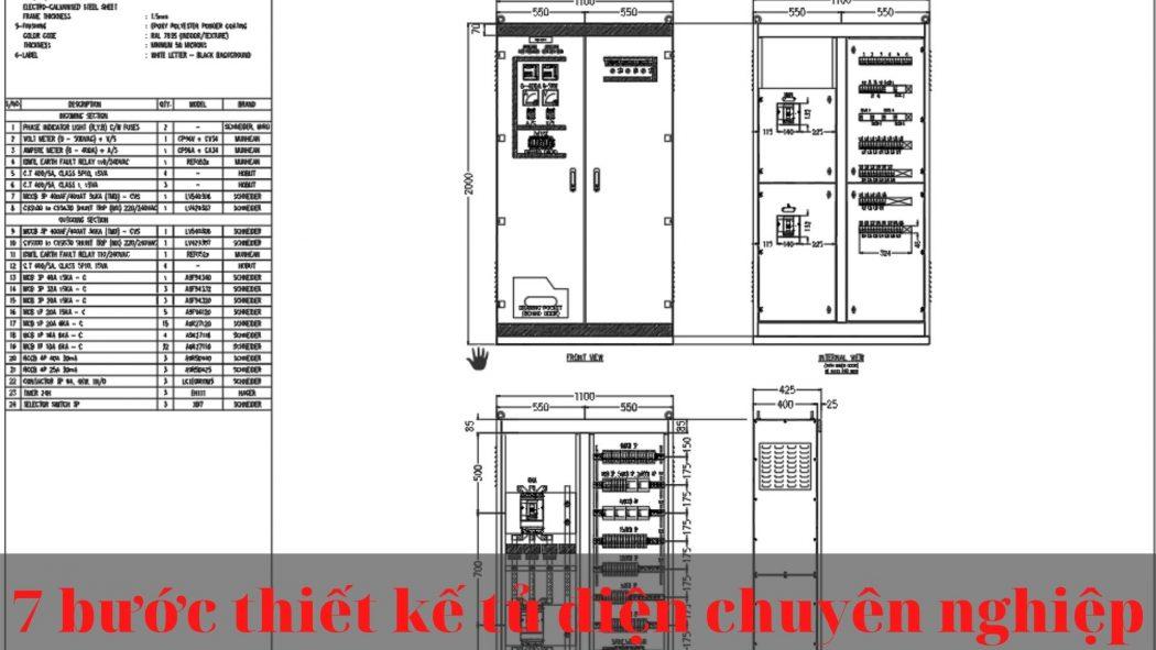 7 Bước thiết kế tủ điện chuyên nghiệp