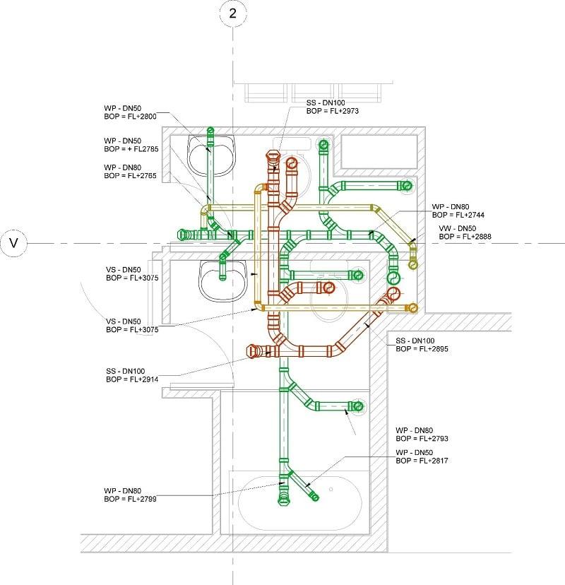 Lập đơn giá cho đường ống trong căn hộ CH06