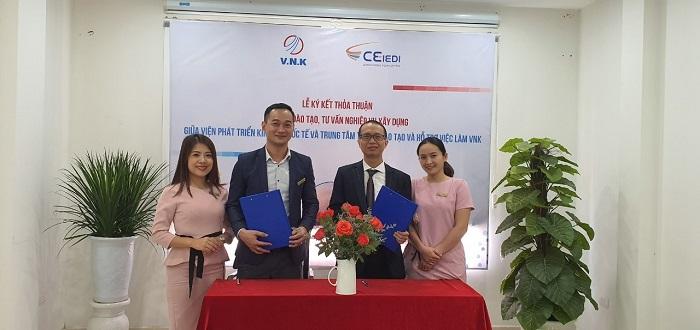 Lễ ký kết thỏa thuận đào tạo và tư vấn nghiệp vụ xây dựng