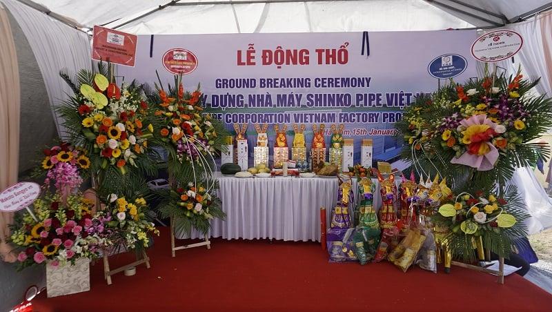 Lễ động thổ Nhà máy Shinko Pipe Việt Nam