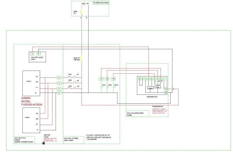 Mạch điều khiển dàn lạnh FCU cho điều hòa hệ Chiller