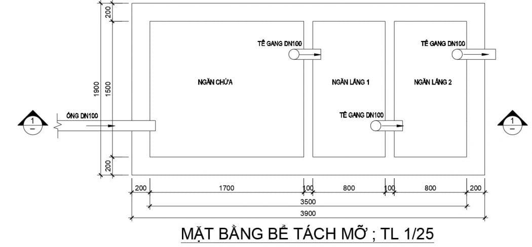Phương pháp thiết kế và lựa chọn dung tích bể tách mỡ