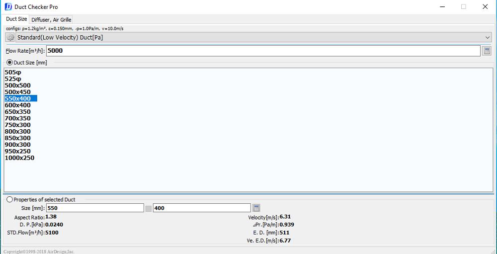 Phần mềm hỗ trợ tính toán đường ống gió DUCT CHECKER