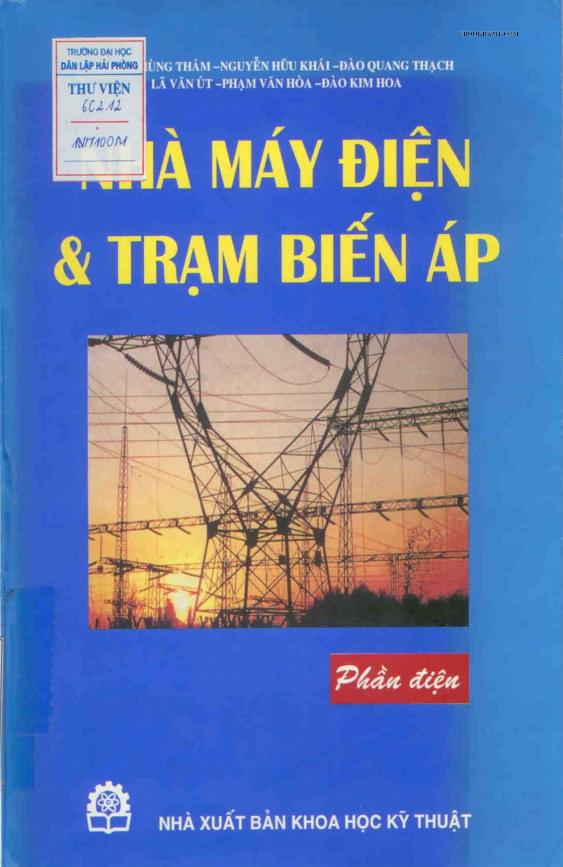 Tài liệu nhà máy điện và trạm biến áp