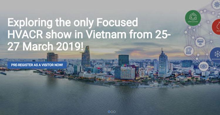 25–27/3: HVACR Việt Nam 2019 – Triển lãm Quốc tế về Cơ Điện Lạnh