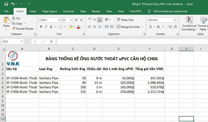 Xuất bản thống kê ra Excel