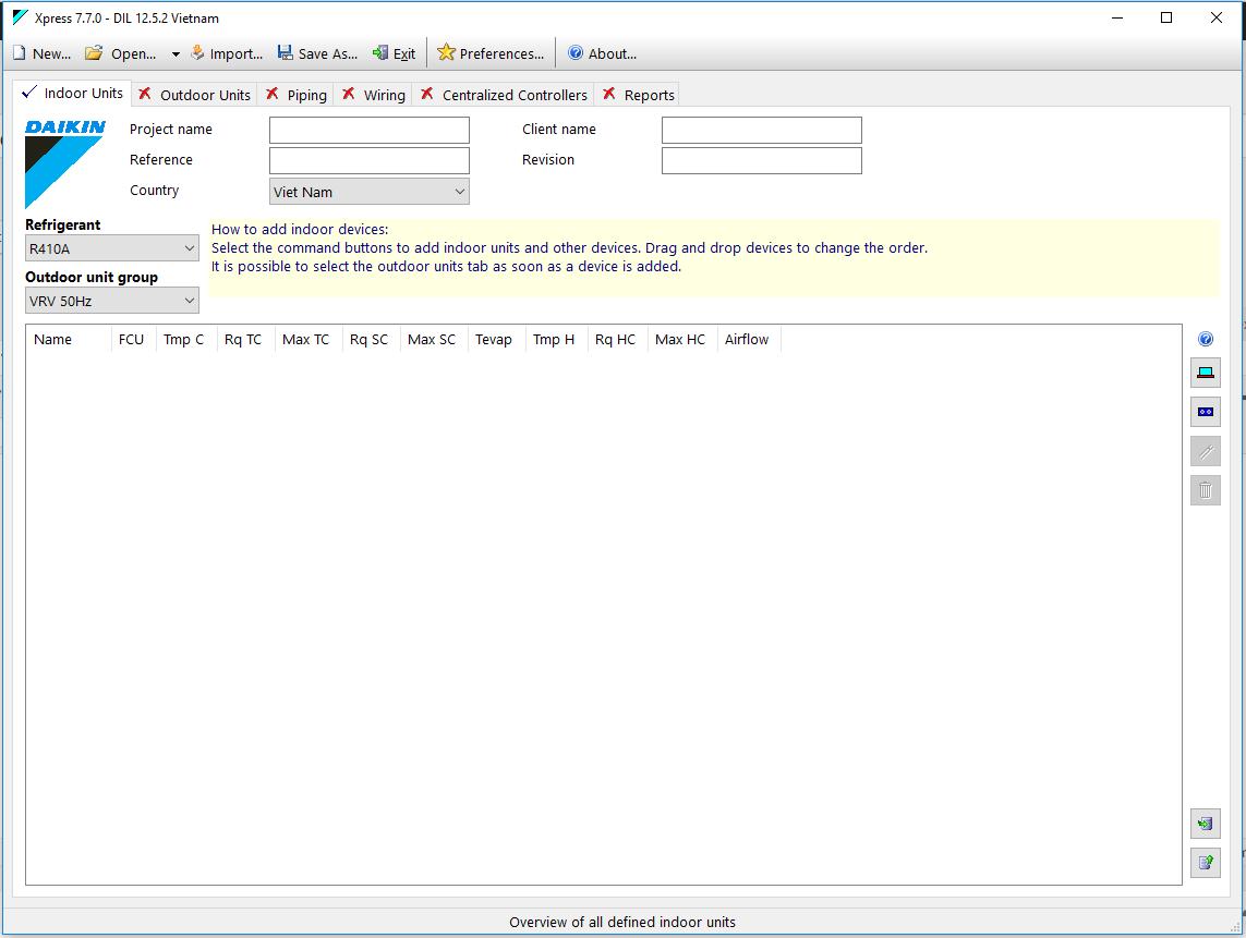 Download và Hướng dẫn thiết kế VRV Daikin bằng phần mềm Express