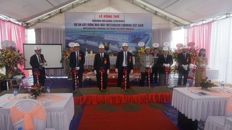 Lễ động thổ Dự án xây dựngnhà máy Mitsuboshi Forming Việt Nam